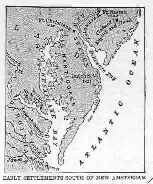 COLONIAL AMERICA - Map of colonial us